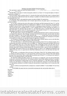 Exchange Agreement and Joint Closing Instructions