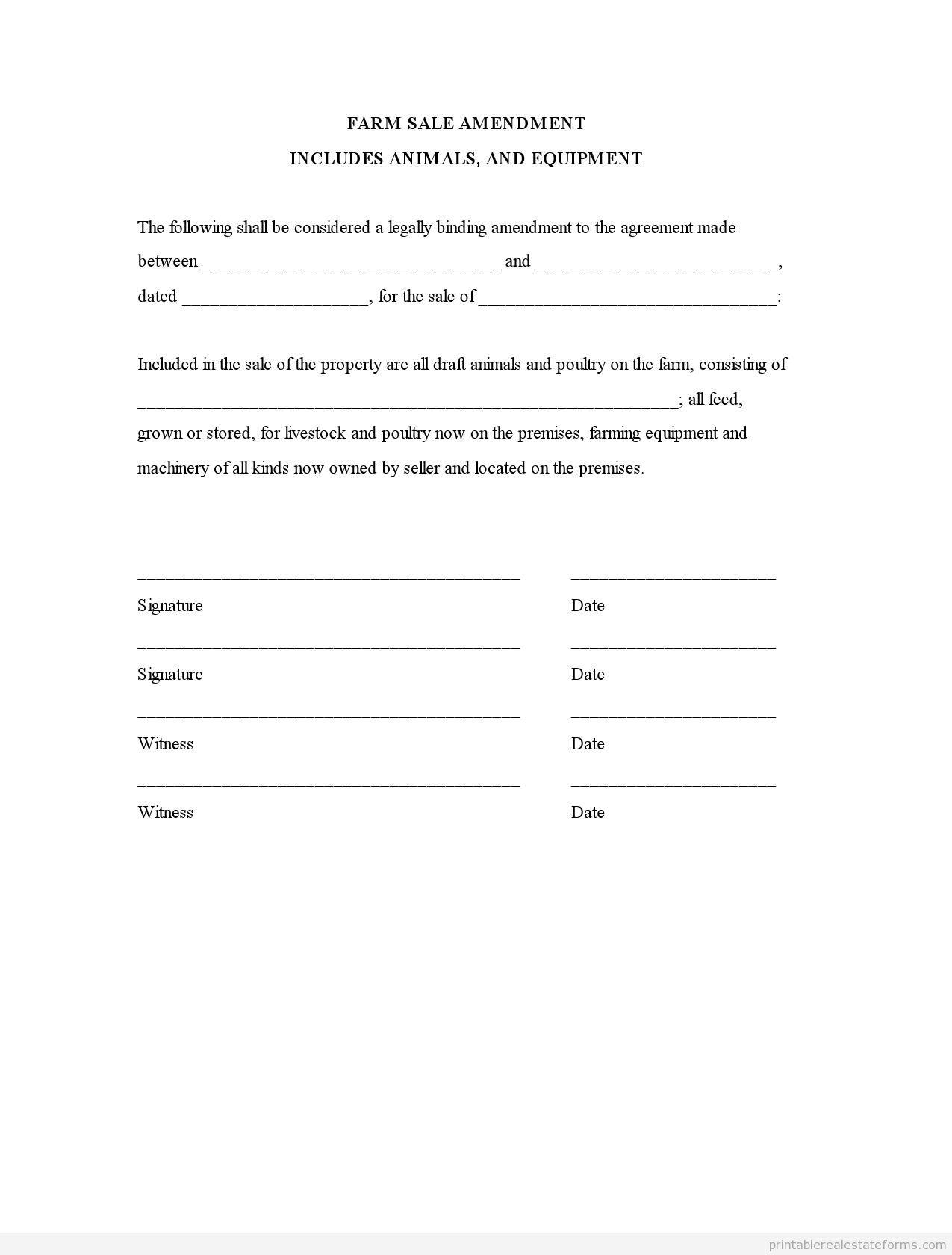 farm sale amendment includes animals equipment pdf. Black Bedroom Furniture Sets. Home Design Ideas