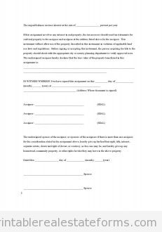 Assignment - Joint Ownership with Right of Survivorship