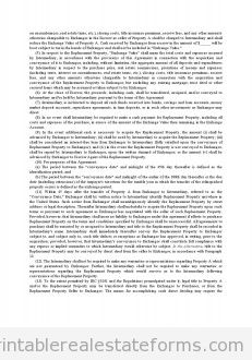 Deferred Exchange with Intermediary - Exchange Agreement