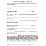 Rental Property Pet Application