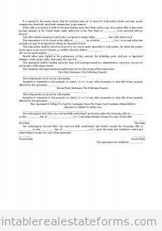 Wisconsin Form - Offer to Exchange Property With Acceptance