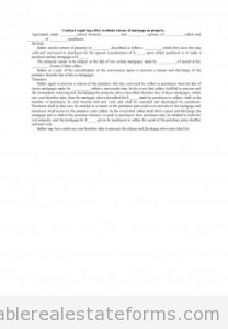 Contract Requiring Seller to Obtain Release of Mortgage on