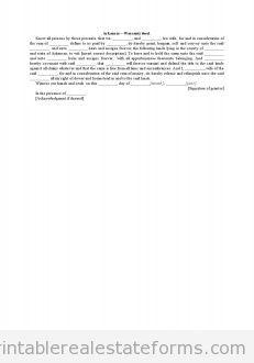 Arkansas-Warranty Deed