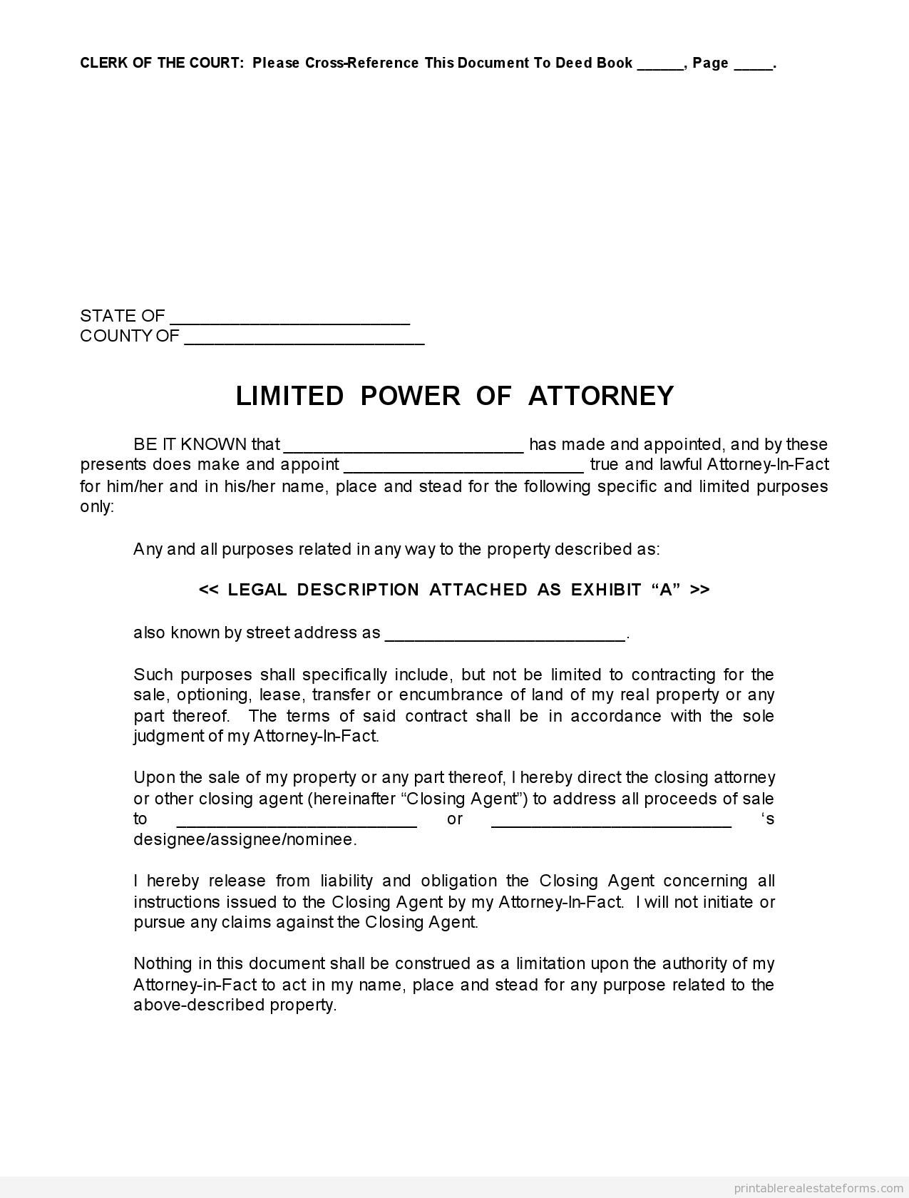 It's just an image of Stupendous Printable Power of Attorney Forms