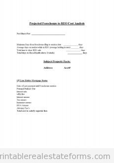 Copy of Projected Foreclosure to REO Cost Analysis 2nd lein