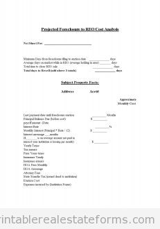 Copy of Projected Foreclosure to REO Cost Analysis