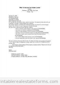 Offer to second lien holder Lender
