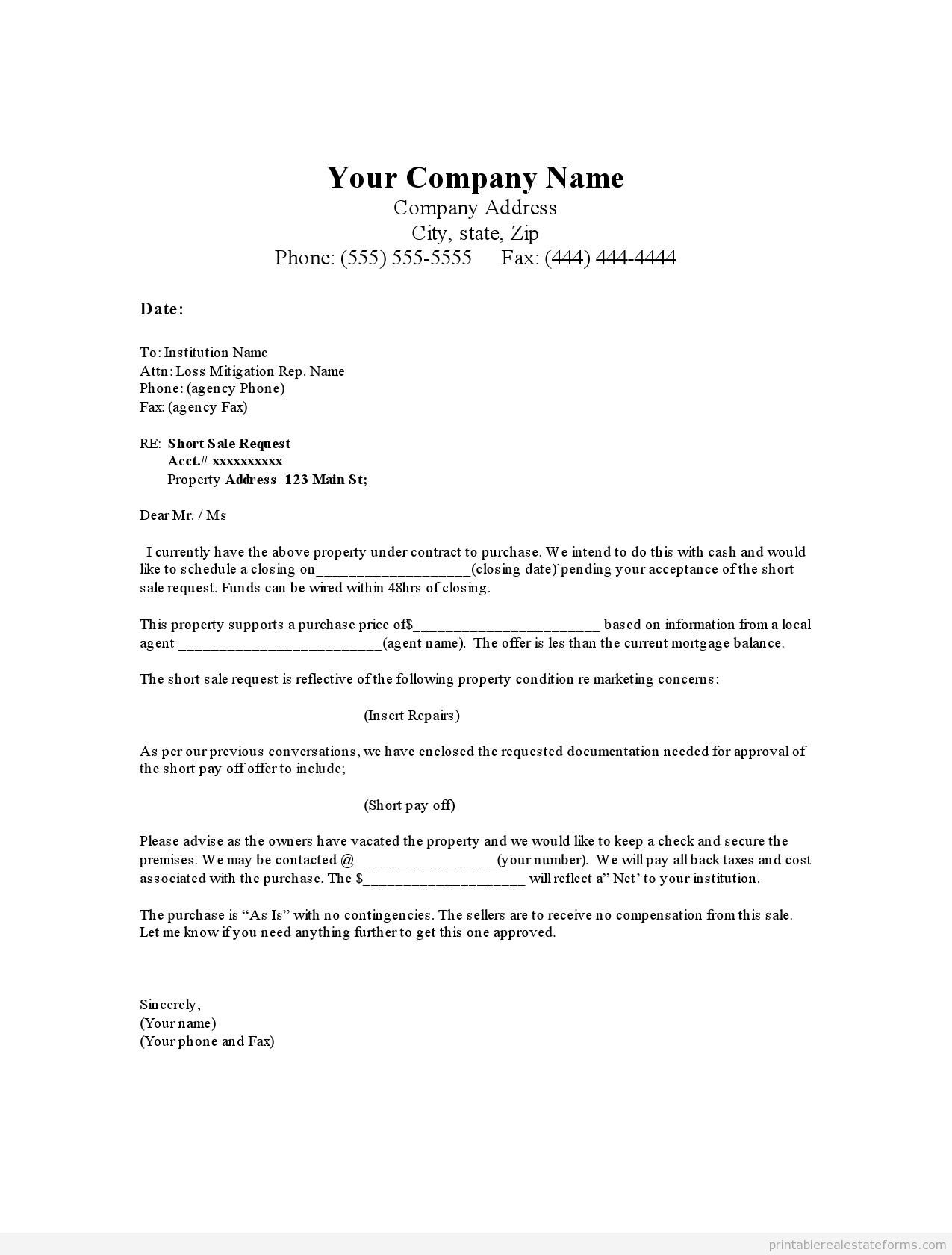 Sample real estate offer letter template example pdf for How to get money to buy land