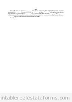 Affidavit - Title