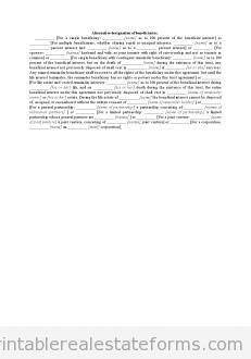 Alternative Designation of Beneficiaries
