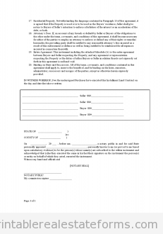 Free Printable Contract for Deed Form BASIC TEMPLATES