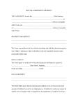 Rental Agreement (Generic)