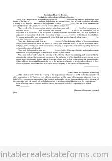 Resolution of Board of Directors