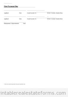 Application Receipt Agreement