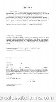 Bill Of Sale- Lease Option