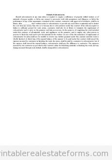 Default of Subcontractor
