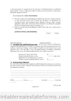 Standard Lease Agreement