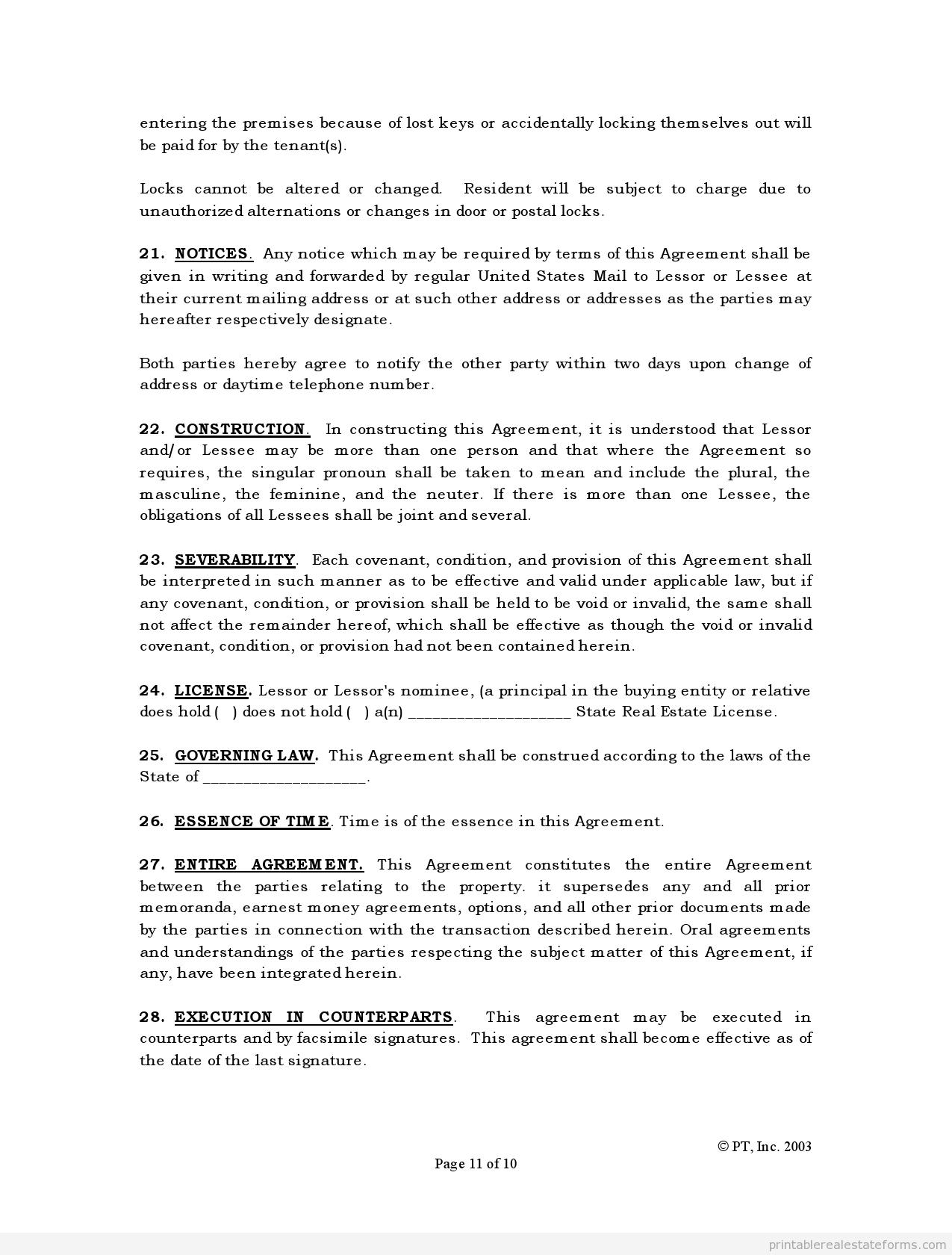 agreement editable word document