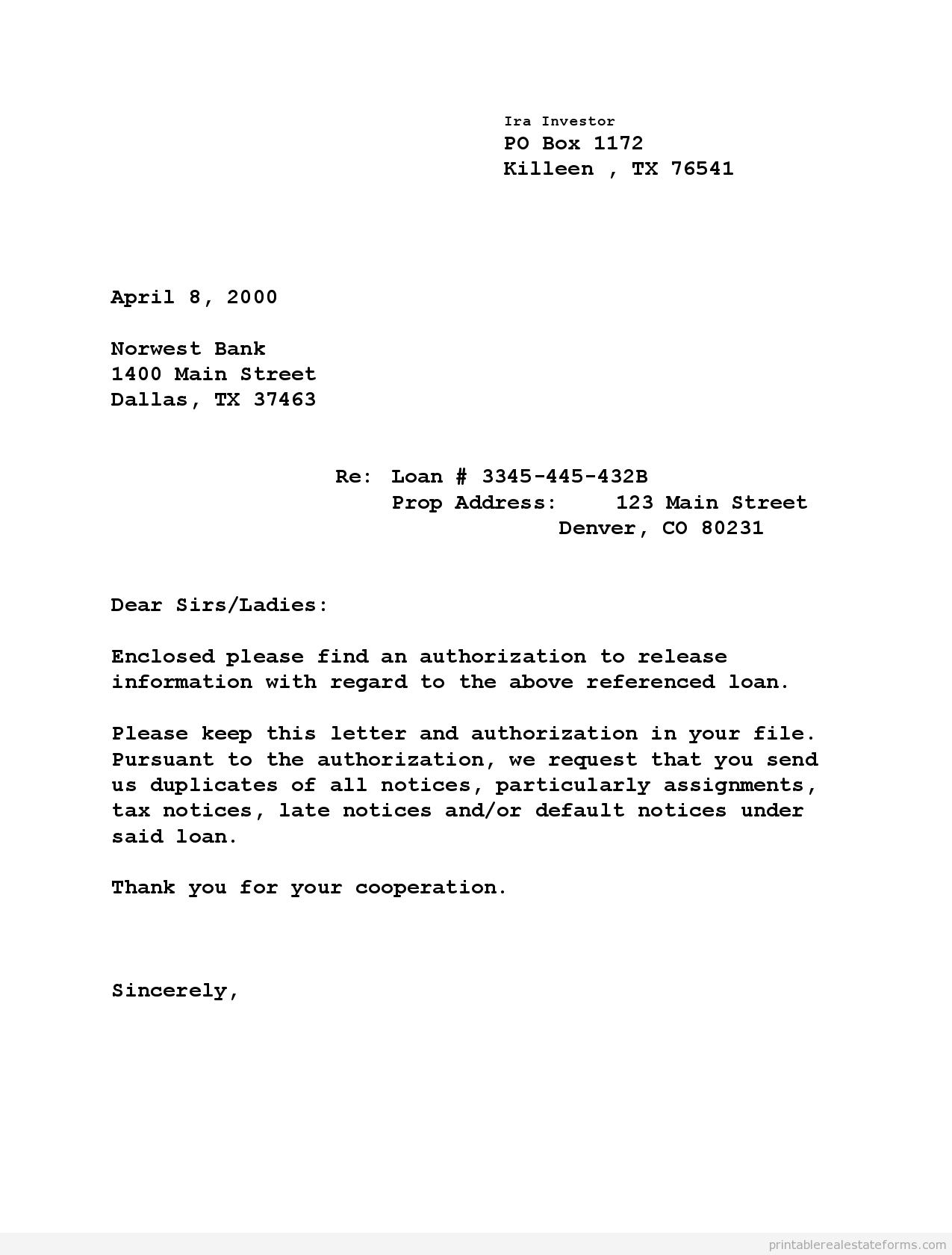 Free Printable Lender Letter Form PDF Amp WORD