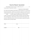 security deposit agreement