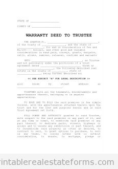 warranty deed to trustee