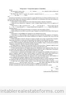 Bid Agreement-Transportation Employee Accommodation