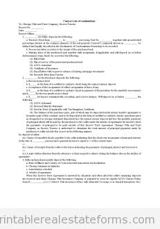 Contract Sale of Condominium