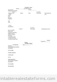 Controller's Report