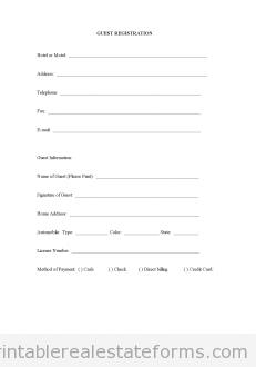 Estate rent rental agreement generic printable real estate for Basic registration form template