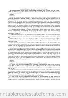 Landmark Designation Agreement-Tribune Tower, Chicago