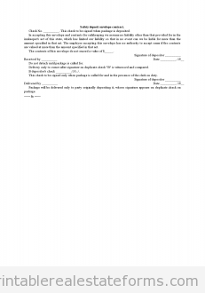 Safety Deposit Envelope Contract