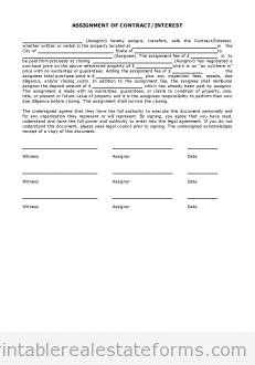 Simple Assignment of Contract-Interest