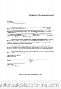 Free printable assignment of mortgage form pdf word for Assignment of benefits form template