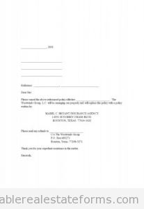 Cancellation of Existing Hazard Insurance