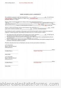 Deed Modification Agreement