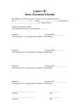 Draw Schedule