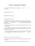 Escrow agreement