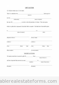 Gift Letter for Buyer from Family Member
