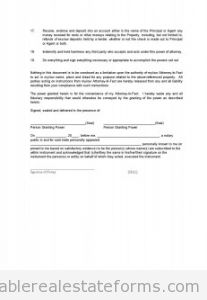 Power of Attorney 2 -Appointment of Property Manager with