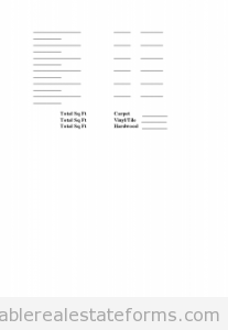 Prop Insp - Flooring Estimate Worksheet