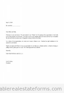 Sales Thank You and Gift Certificate Letter