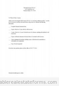 Shortsale checklist given to sellers