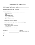 Subcontractor Bid Request Form And Standardized Scope of Word