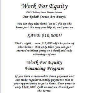 bonus - Work For Equity Flyer